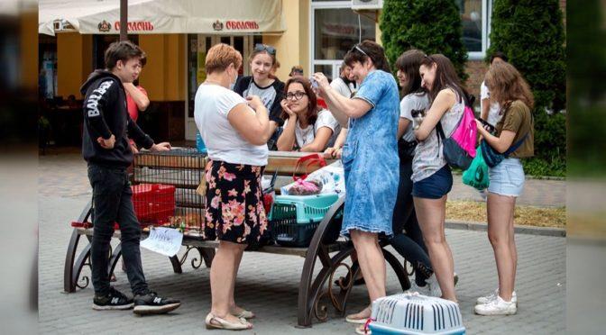 щосуботи у Смілі юні волонтери із молодіжного простору «Всі Свої» та представники ГО «Чотири лапи» виходять на бульвар Боринського