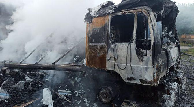 Протягом доби на Черкащині згоріли 2 вантажних автомобілі