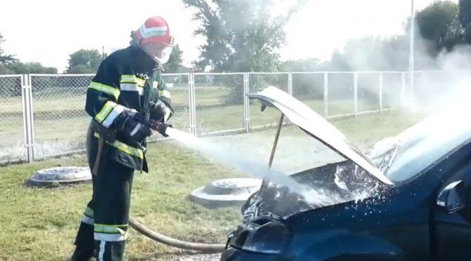 На заправці в Драбові загорівся автомобіль