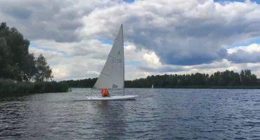 Дитячі вітрильники вийшли на воду в Черкасах