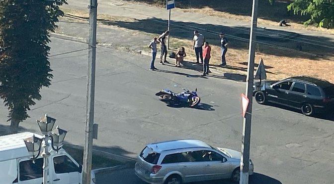 Гонки на мотоциклі завершились аварією