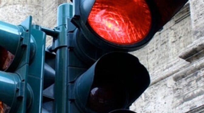 За проїзд на червоне світло світлофора патрульні притягнули водія черкаської маршрутки до адмінвідповідальності