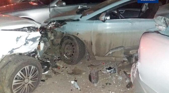 Водій у стані алкогольного сп'яніння розтрощив 3 автомобілі