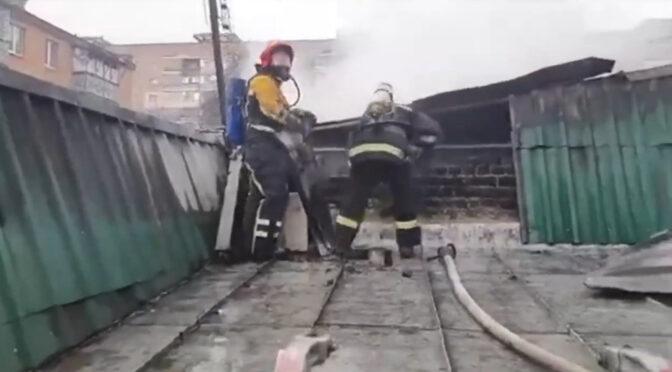 """У Черкасах на ринку """"Сєдова"""" загорівся павільйон"""