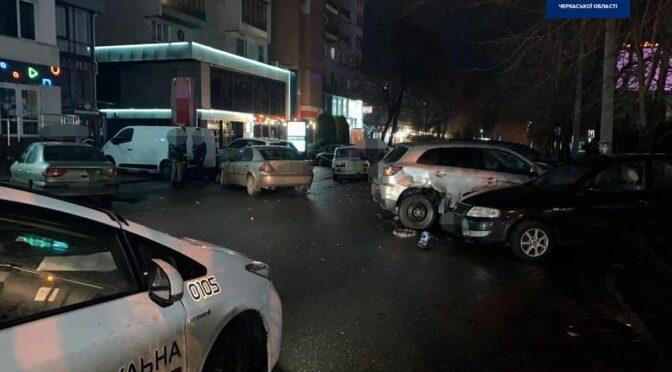 У Черкасах п'яний водій розтрощив 5 автомобілів