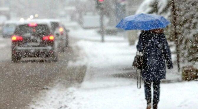 8 лютого очікується значне погіршення погодних умов, сильний снігопад, вітер і мороз
