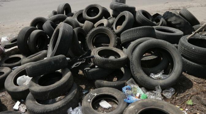 Безхазяйне звалище шин у Дніпровському мікрорайоні як показник стабільності?