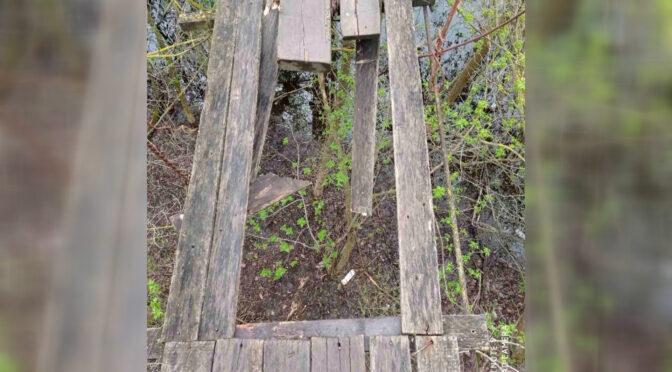 У селі Велика Яблунівка, переходячи дерев'яний місток через річку, з 5-метрової висоти впала жінка