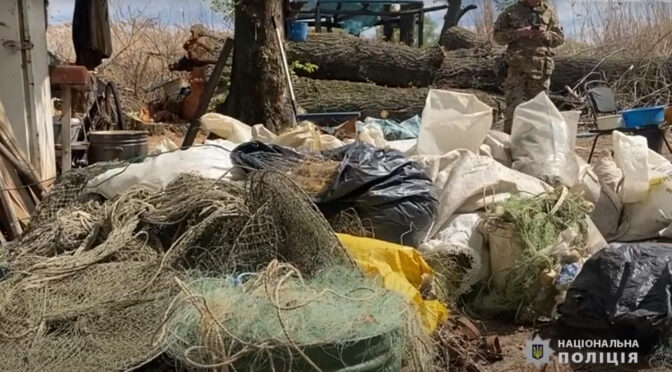 На острові «Мурашки» на Дніпрі поліція Черкащини виявила базу браконьєрів