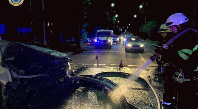 У ДТП на розі Надпільної та Грушевського постраждали 7-ро людей і зайнявся автомобіль