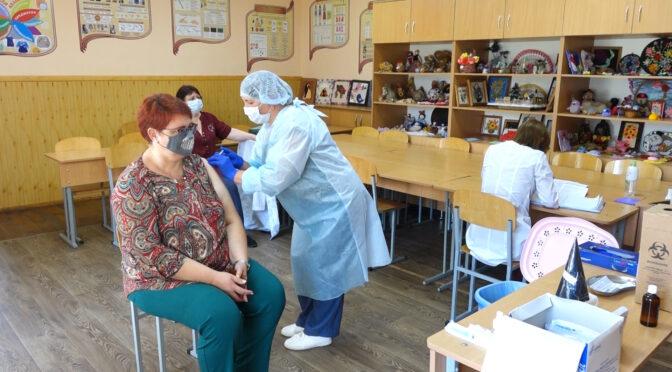 7-8 червня у Смілі вакцинували працівників закладів загальношкільної, дошкільної та позашкільної освіти проти коронавірусної інфекції