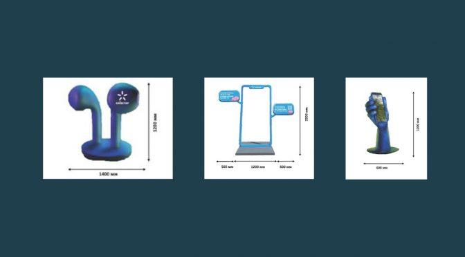 До Дня міста в Черкасах встановлять три арт-об'єкти: навушники, арка та інсталяція, що має вигляд телефона у руці