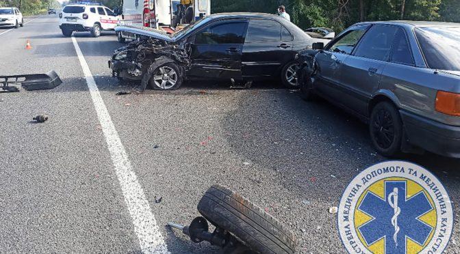 Вранці 14 вересня на трасі біля Благодатного сталася масштабна ДТП за участю чотирьох автомобілів