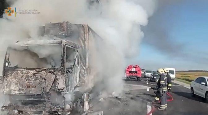 Неподалік Софіївки вщент згоріла вантажівка МАН
