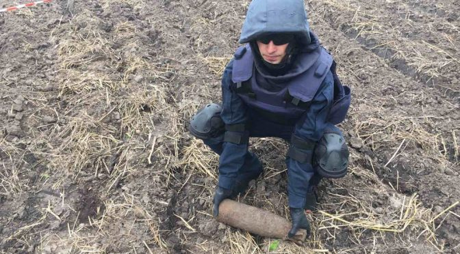 У лісі поблизу села Руська Поляна місцеві мешканці знайшли 2 артснаряди та авіабомбу часів минулих війн