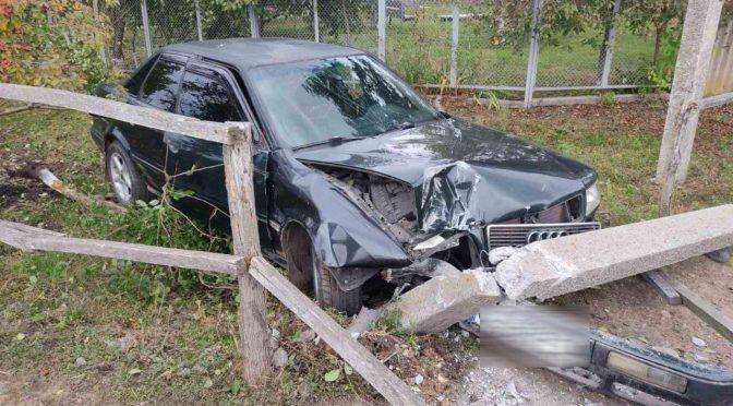 На Драбівщині п'яний чоловік викрав автомобіль і розбив його